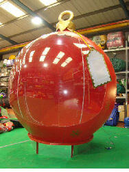 Giant Bauble Snow Globe for hire