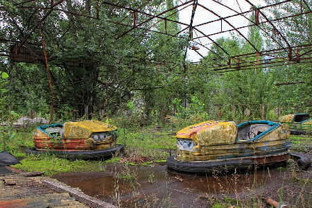 Broken Dodgems, just what you dont want to hire