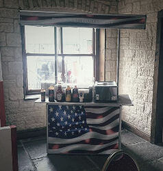 American themed hot dog cart for hire