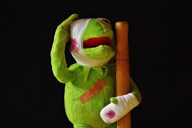 Injured Kermit