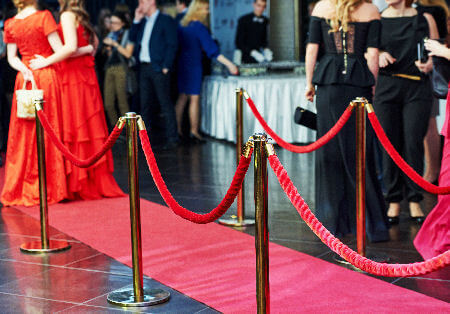 Red Carpet And Rope Barriers