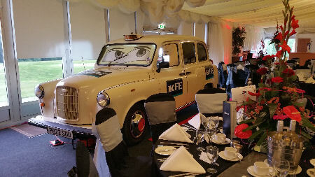 White Taxi Booth For KFE