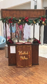 One of our new Alpine catering carts with mulled wine and chestnuts for Winter events