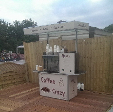 Contemporary coffee cart hire