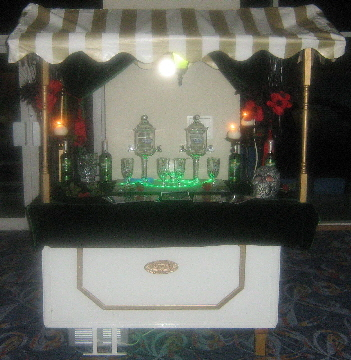 One of our Bohemian/Moulin Rouge themed Absinthe carts.