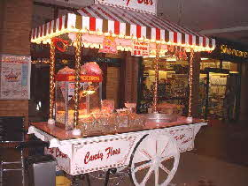 victorian candy floss cart for hire for parties weddings and