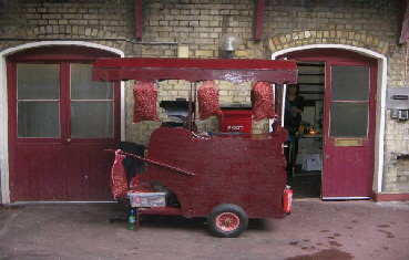 One of our available hot roast chestnut carts
