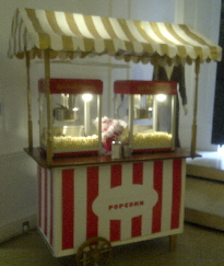 custom striped cart created for Stella Mccartneys shop in London