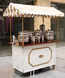 One of our Victorian style carts, perfect for chestnuts and mulled wine.