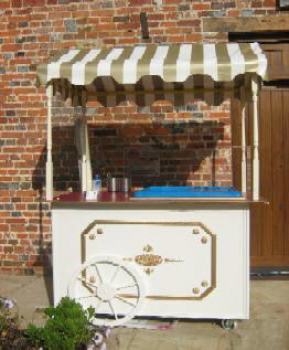 One of our soft scop ice cream carts available for hire