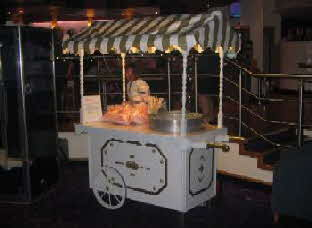 One of our carts at a recent casino fun night in Bradford