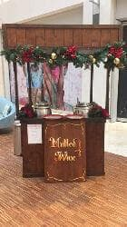 Winter themed mulled wine cart