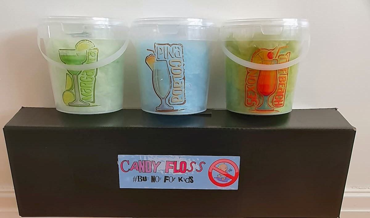 Alcoholic Candy Floss Tubs