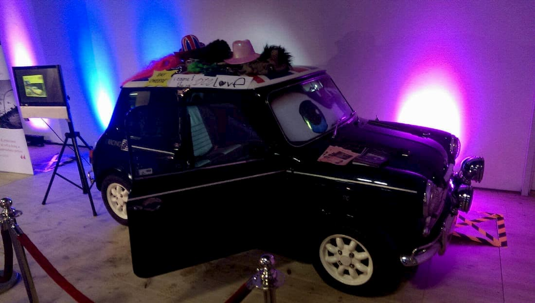 A Photo Booth Built Into Our Classic Mini Cooper