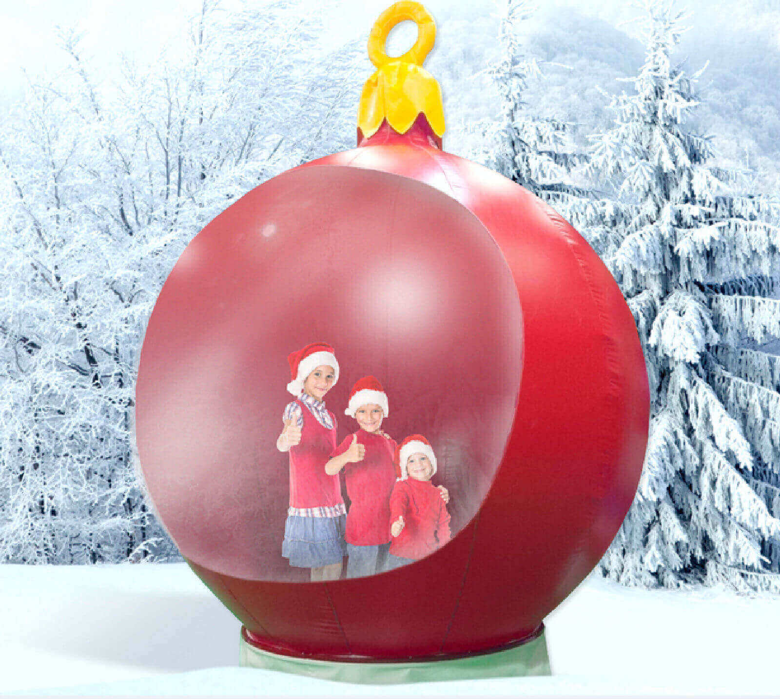 Giant Christmas Bauble Snow Globe Hire