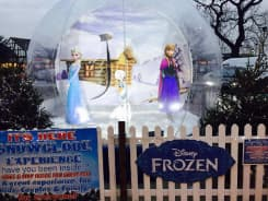 Frozen Themed Giant Snow Globe Photo Booth