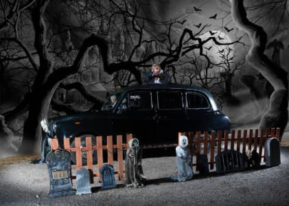 Our Spooky Themed Horror Taxi Photo Booth