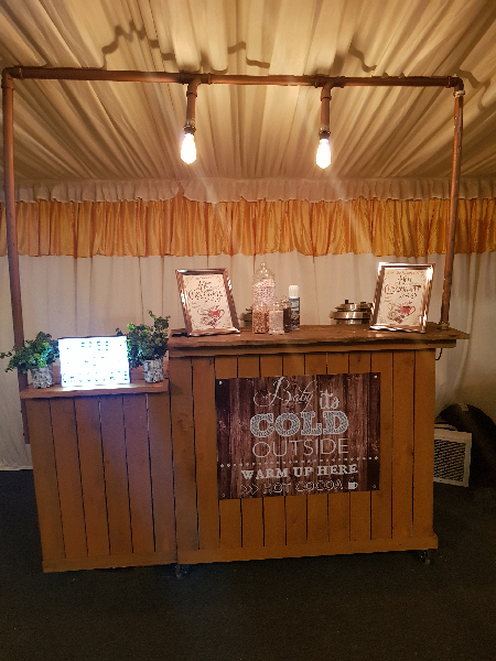Rustic Hot Chocolate Cart