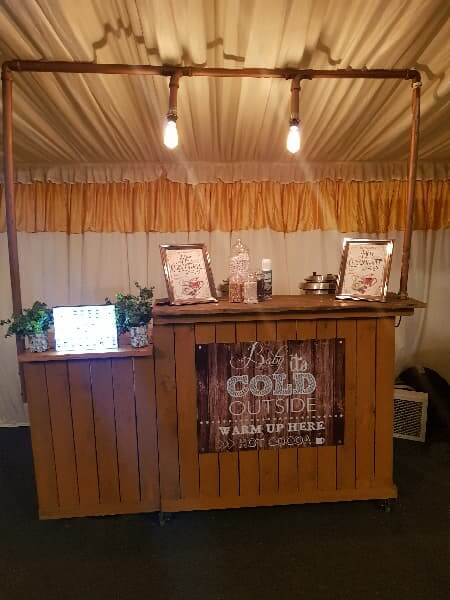 Our New Wooden Hot Chocolate Cart