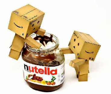 Nutella for our French Crepes