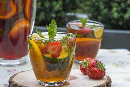 Pimms In Glasses