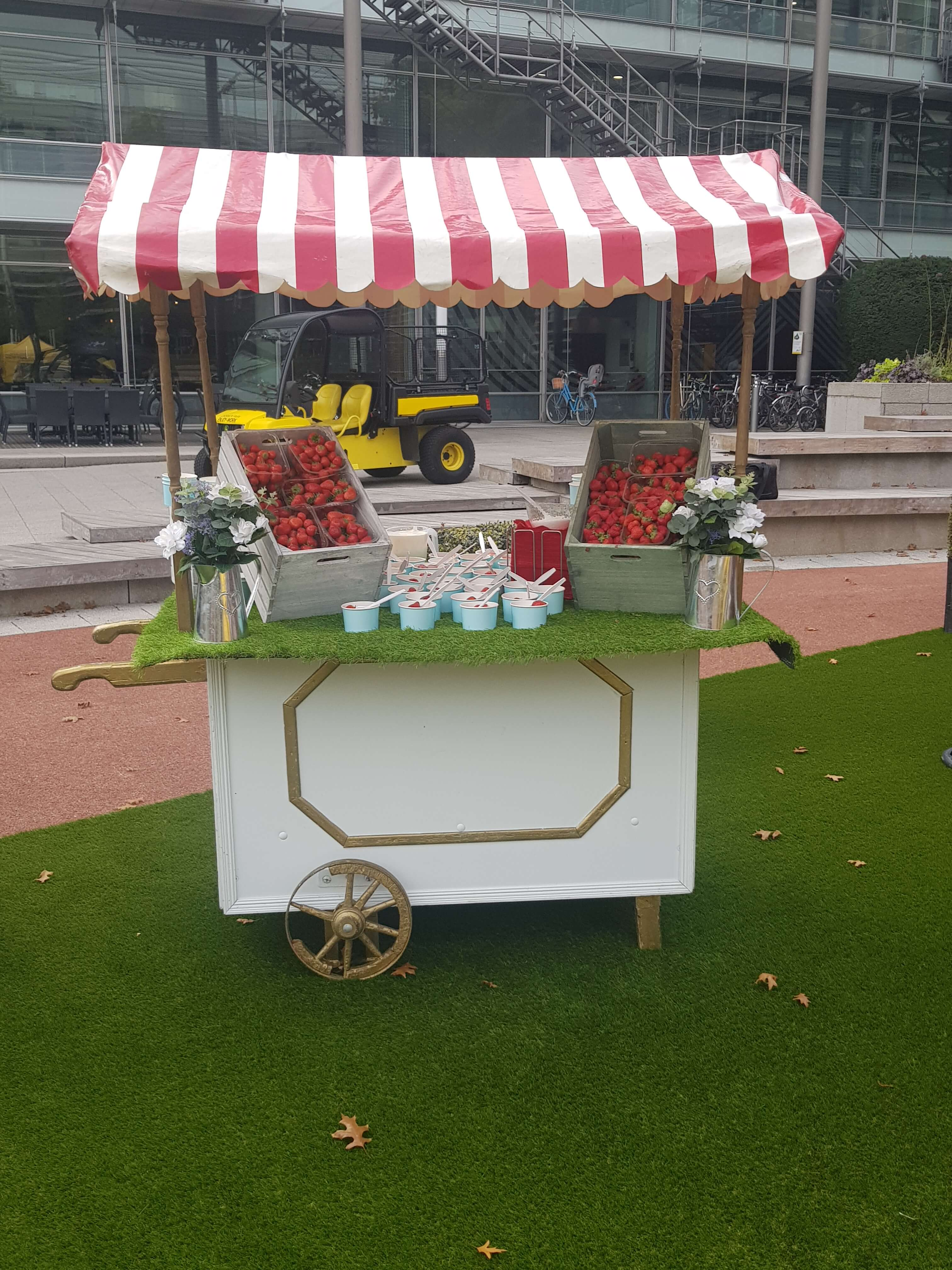 Strawberries And Cream Cart