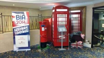 Buzby, Our Red Telephone Box Photo Booth and Matching Print Dispenser Post Box